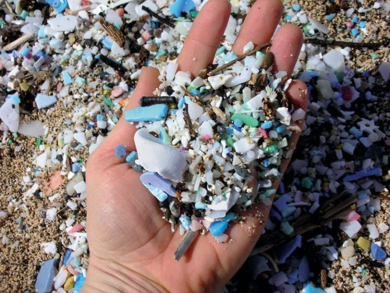 Microplastics photographed in Easter Island